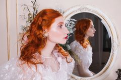 Free Beautiful Girl With Red Hair Royalty Free Stock Images - 105478869