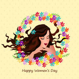 Beautiful girl for Women's Day celebration. Royalty Free Stock Photo