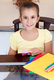 Beautiful girl working on her art project Royalty Free Stock Photo
