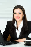 Beautiful Girl Working In The Office Royalty Free Stock Photo