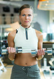 Beautiful girl working out Royalty Free Stock Photo