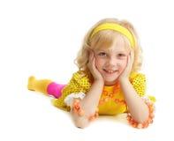 Beautiful girl in yellow sundress Stock Photo
