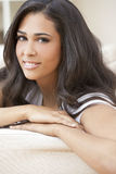 Beautiful Girl Young Hispanic Woman at Home Royalty Free Stock Photos