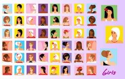 Beautiful Girls stock illustration