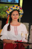 Beautiful girls actress animator in the national Ukrainian costume Stock Image