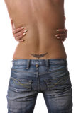 Beautiful girls back with tattoo Royalty Free Stock Photo