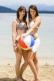 Beautiful girls at the beach Royalty Free Stock Photography