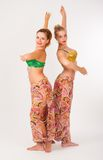 Two belly dancers Stock Photo