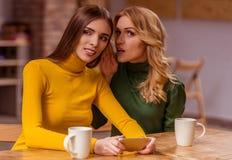 Beautiful girls in cafe Stock Photo