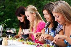 Beautiful girls drinking wine Royalty Free Stock Image