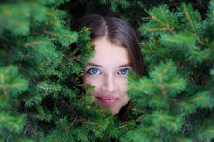 Beautiful girls face Royalty Free Stock Images