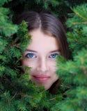 Beautiful girls face Stock Image