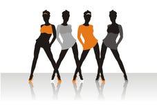 Beautiful girls of model Stock Image