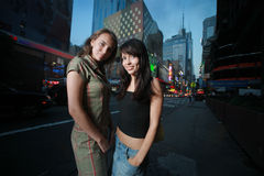 Beautiful girls in New York Stock Photo