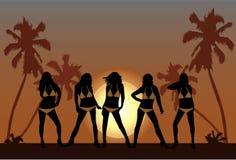 Free Beautiful Girls On Beach 2 Stock Photography - 13092172