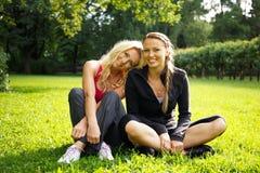 Beautiful girls outdoor Royalty Free Stock Image