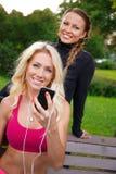 Beautiful girls outdoor Stock Image