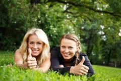 Beautiful girls outdoor Stock Images