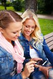 Beautiful girls outdoor Royalty Free Stock Photography