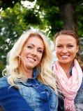 Beautiful girls outdoor Stock Photos