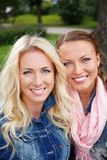 Beautiful girls outdoor Stock Photo