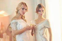 Beautiful girls on party Stock Photo