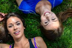 Beautiful girls are resting royalty free stock images
