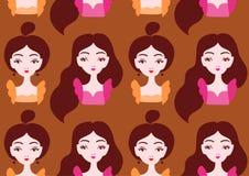Beautiful girls seamless pattern. Vector illustration eps 10 royalty free illustration