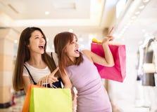 Beautiful girls shopping in the mall. Beautiful asian girls shopping in the mall Stock Images