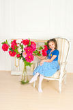 Beautiful girls in the stylish interior Royalty Free Stock Images