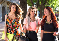 Beautiful girls walking Royalty Free Stock Photo