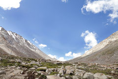 Beautiful glacial formed landscape of Ladakh Royalty Free Stock Photo