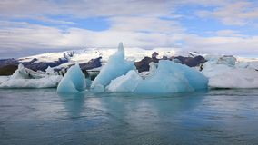 Beautiful glacial lake Jokulsarlon in Iceland stock footage