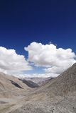 Beautiful glacial mountains and valleys Khardung La (pass), Ladakh Stock Image