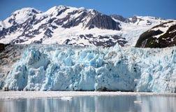 Beautiful Glacier. Horizontal photo of a glacier and ocean in Alaska Royalty Free Stock Photos