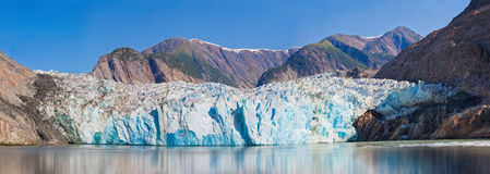 Beautiful Glacier in Alaska. With mountains in the back Stock Images