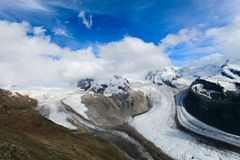 A beautiful glacier, Grenz Glacier Royalty Free Stock Photo