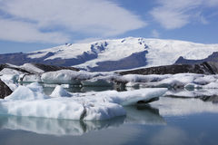 Beautiful glacier and iceberg Stock Images