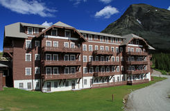 Beautiful Glacier National Park lodging Stock Images
