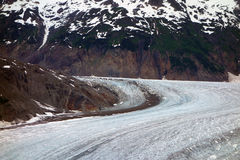 A beautiful glacier winding down a moutain Royalty Free Stock Photo