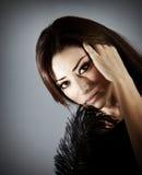 Beautiful glamor female portrait Stock Images