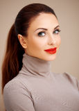 Beautiful glamorous young woman Stock Image