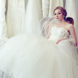 Beautiful glamour bride Royalty Free Stock Photo