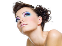 Beautiful  glamour brightly make-up Royalty Free Stock Photo