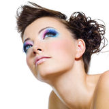 Beautiful  glamour brightly make-up Stock Photography