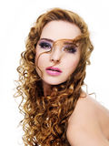 Beautiful glamour woman royalty free stock images