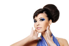 Beautiful glamour woman Stock Images