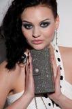 Beautiful glamour woman. Bag. Vogue Royalty Free Stock Image