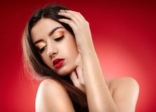 Beautiful glamour woman Stock Image