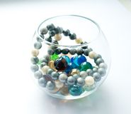 Beautiful glass beads royalty free stock images